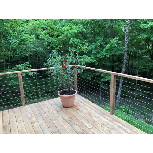 Nautica cable railing system - I – Timber post
