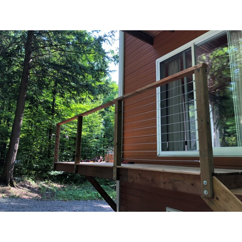Nautica cable railing system - II – Timber post