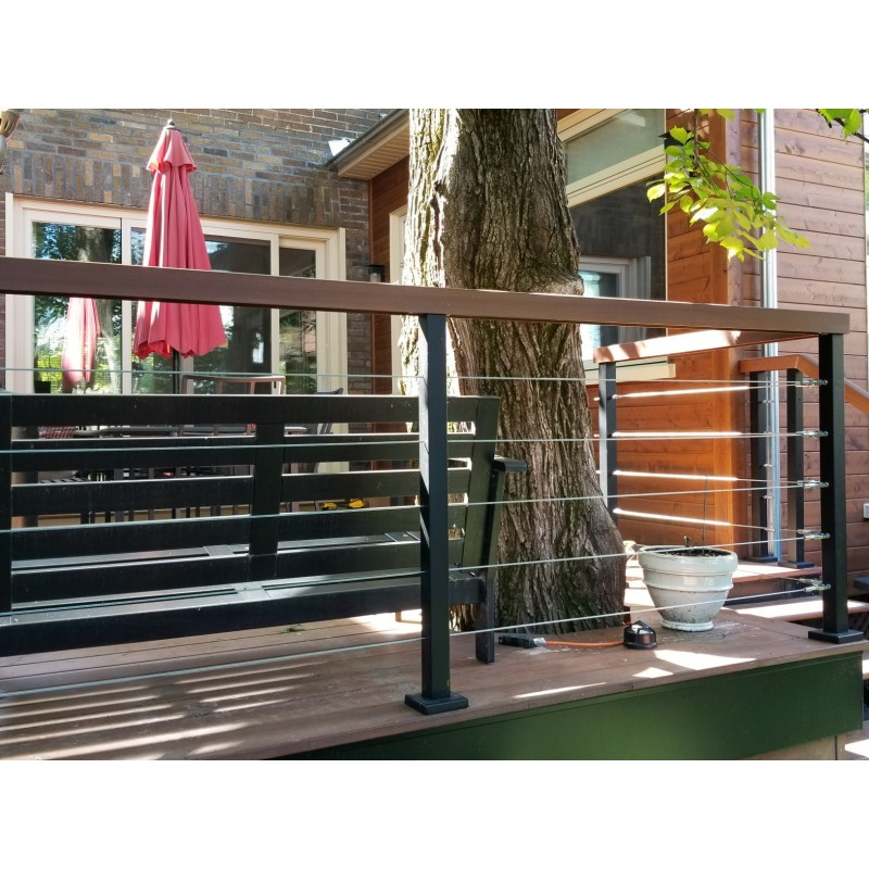 Classic cable rail system – Metal post