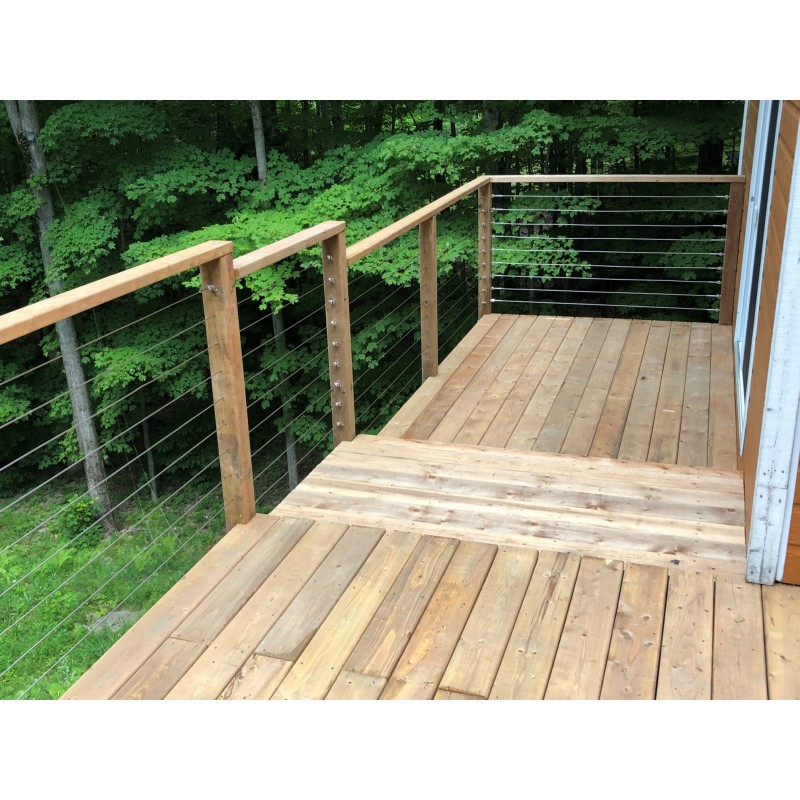 Marina cable railing system – Timber post