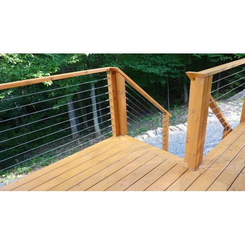 Sailing cable railing system – Timber post