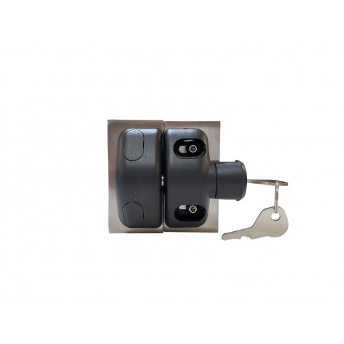 Magnetic latch for glass