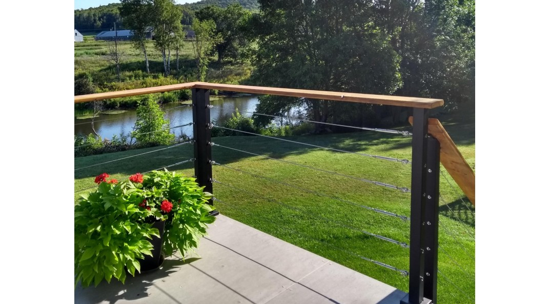 Tips from the pros for a low-cost stainless steel cable railing system